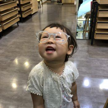 ママのメガネを買いに行くよ