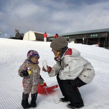 琵琶湖とスキー